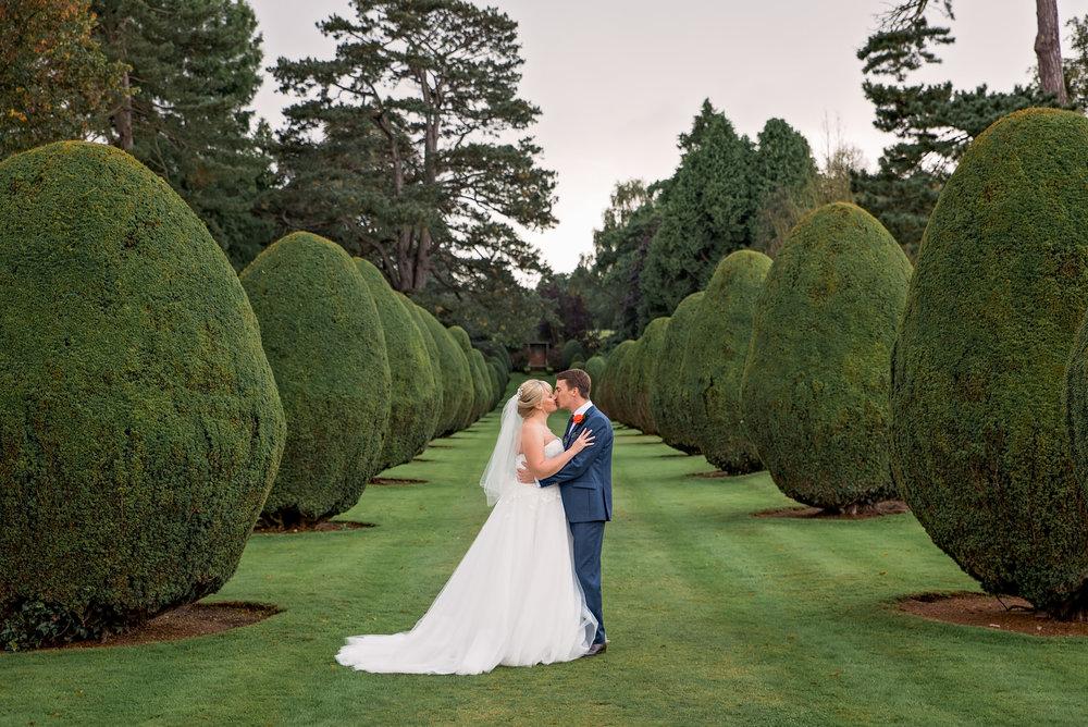 Bride and Groom at The Elvetham Fleet Hampshire - Amy James Photography - Hampshire wedding photographer