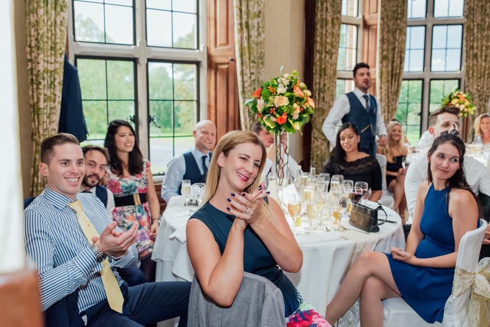 Wedding speeches The Elvetham - Amy James Photography - Documentary Wedding Photographer Hampshire