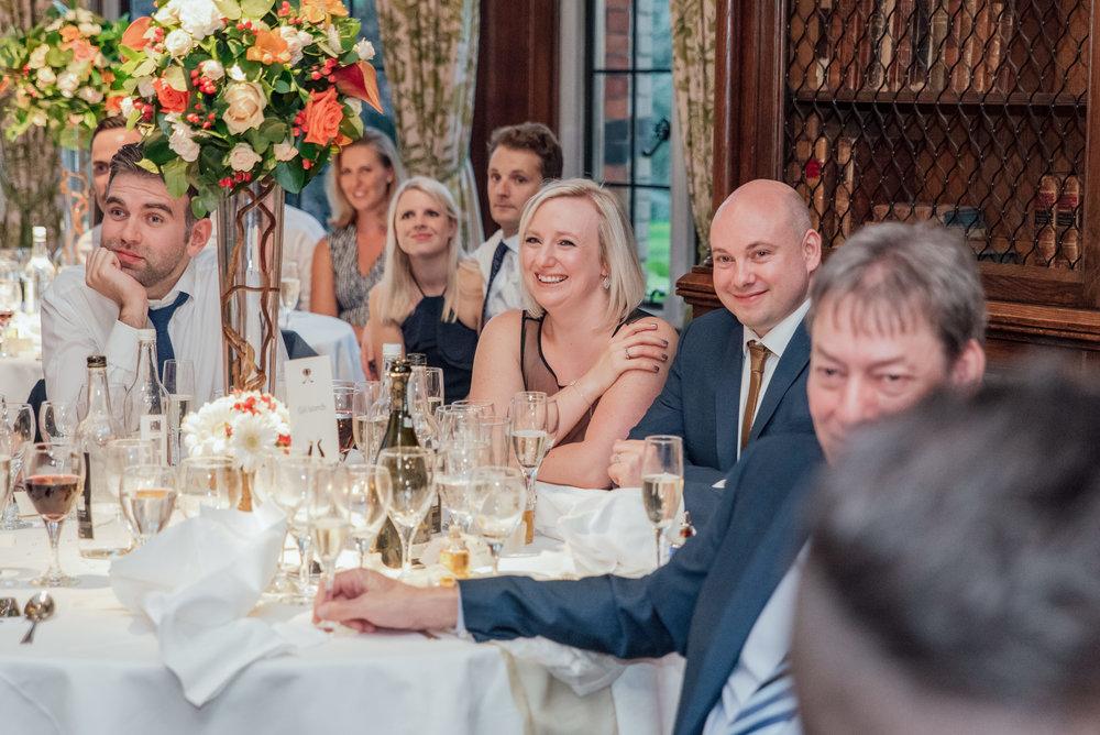 Wedding Speeches - The ELvetham Wedding Venue Hampshire - Amy James Photography - Documentary wedding photographer Hampshire