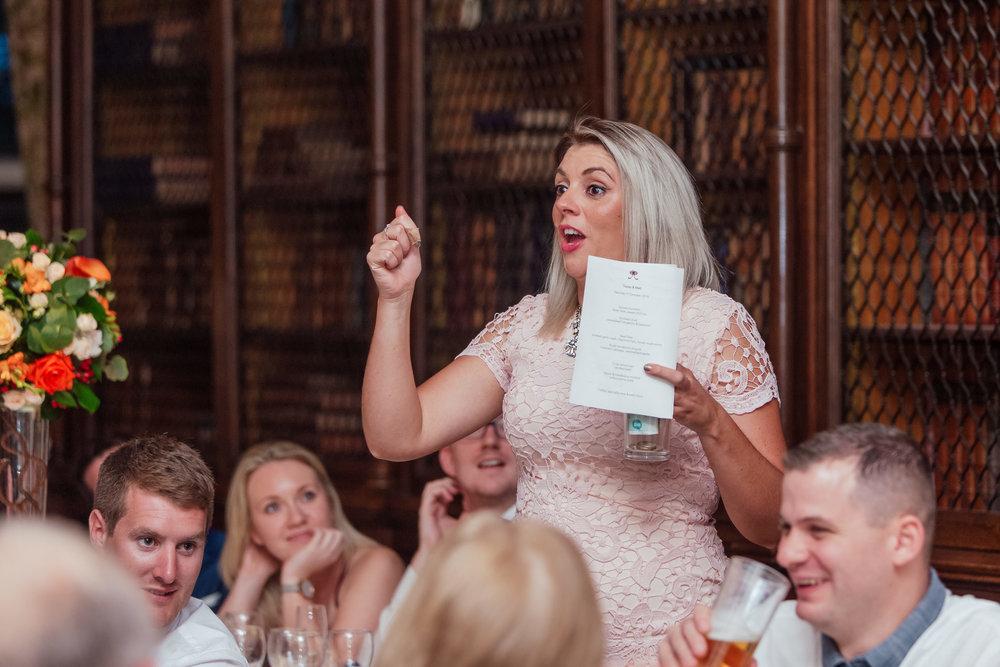 Wedding Speeches - The Elvetham - Amy James Photography - Documentary Wedding Photographer - Hampshire