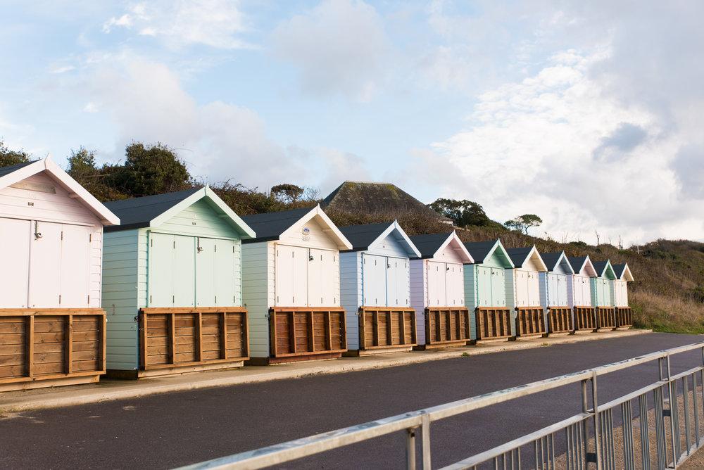Beach Huts - Highcliife Castle Wedding - Beach wedding - Amy James Photographer - Fleet Hampshire wedding photographer