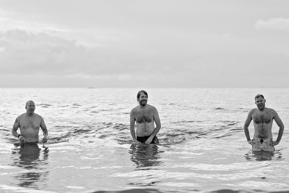 Sea swimming at Friars Cliff Dorset - Amy James Photography - Documentary Wedding Photographer Hampshire and Dorset