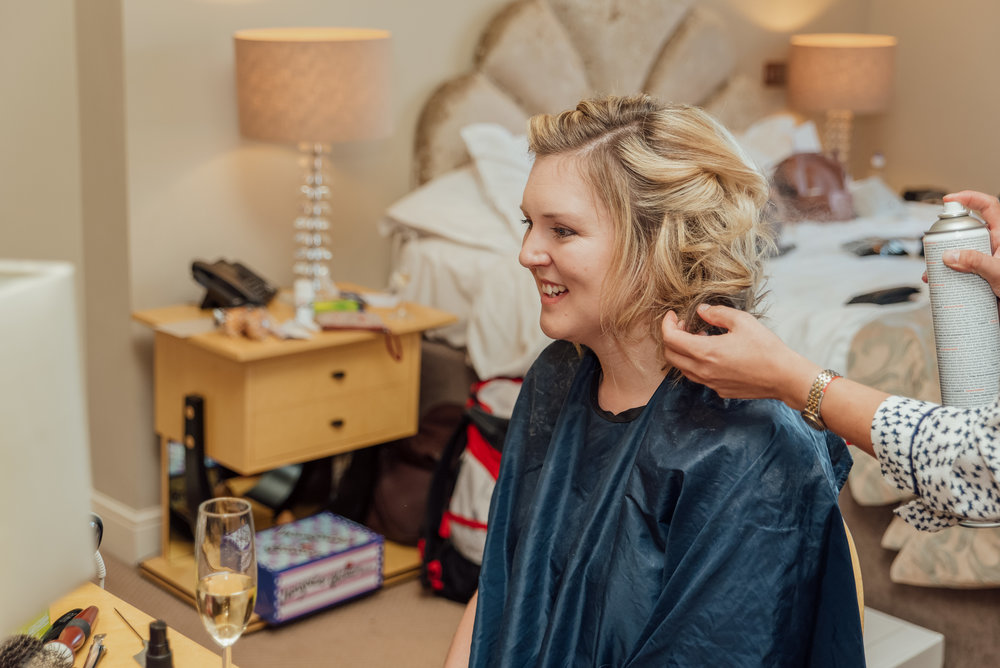Wedding preparations at The Kings Arms Hotel in Christchurch Dorset by Amy James Photography - Documentary wedding photographer for Hampshire Surrey and Dorset