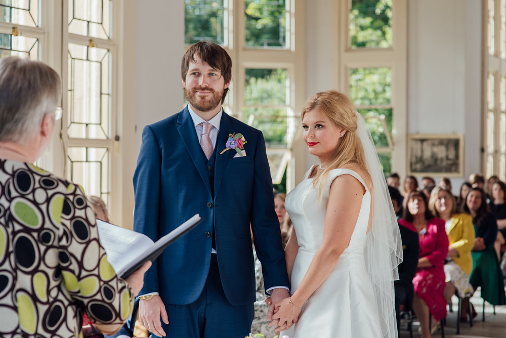 Bride and Groom at Highcliffe Castle Wedding Dorset - Amy James Photography - Documentary wedding photographer for Hampshire Dorset and Surrey