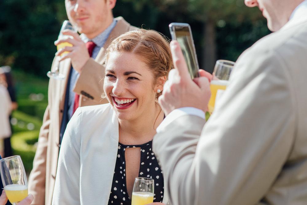 guest at Highcliffe Castle wedding Dorset