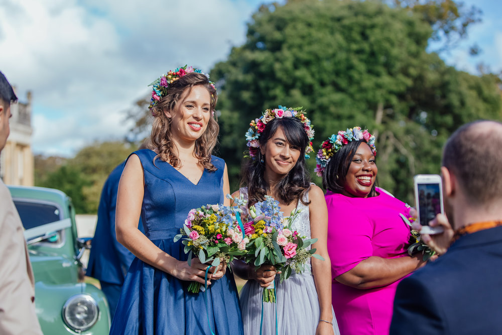 Guests at Highcliffe Castle Wedding