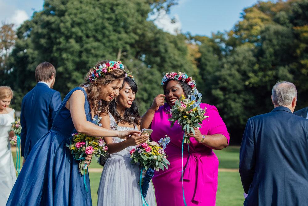 Bridesmaids at Highcliffe Castle wedding
