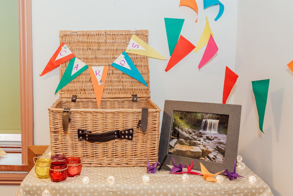 DIY wedding decorations - New Forest Village Hall wedding - Wedding photographer for Hampshire Surrey and Dorset