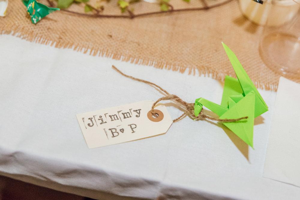 DIY wedding favours - DIY wedding centrepieces - Colourful wedding decorations - New Forest Wedding