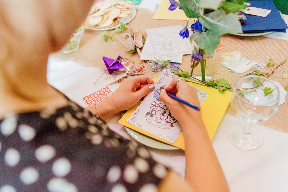 DIY New Forest wedding - Colourful wedding decorations