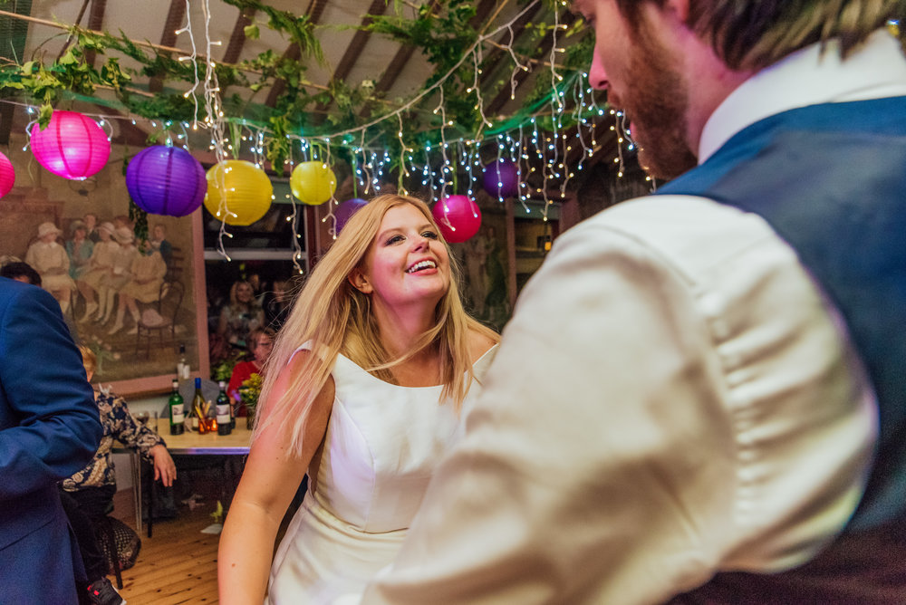 Bride and Groom first dance at New Forest Village Hall Wedding