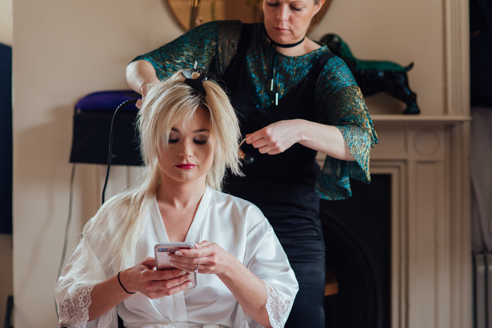 Bride getting ready at the George in Rye wedding venue East Sussex - by Amy James Photography documentary wedding photographer Hampshire dorset and Surrey
