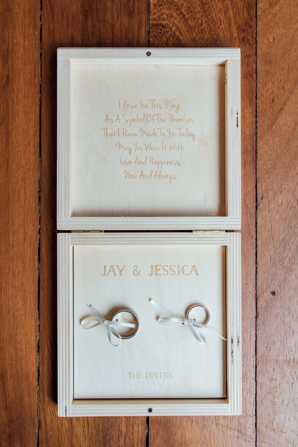 Wedding ring box ideas - Engraved wedding ring box at The George in Rye Easy Sussex wedding venue - Amy James Photography - Wedding photographer Hampshire