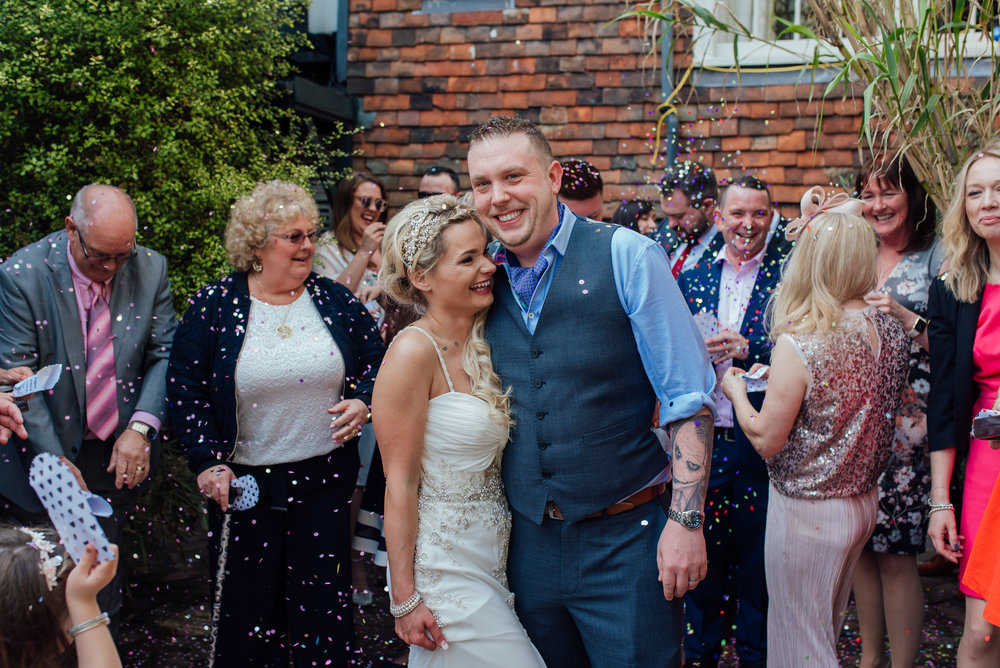 Bright colourful wedding at The George in Rye East Sussex wedding venue - Amy James Photography