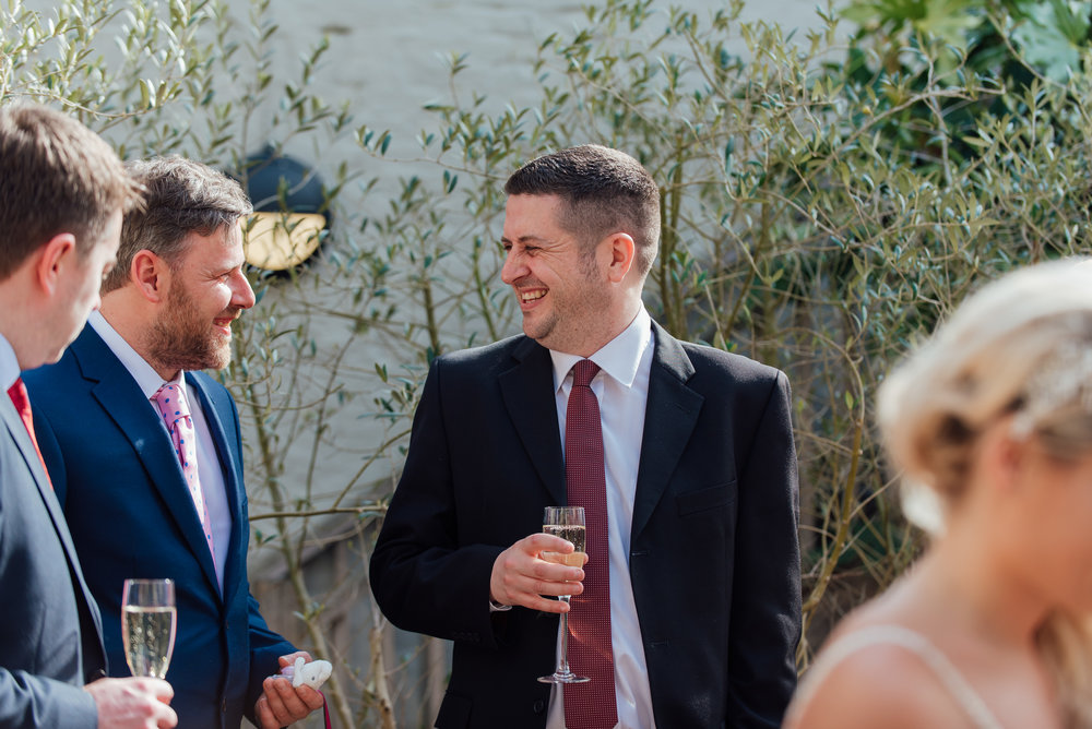 Drinks reception at The George in Rye Wedding - Amy James Photography - Hampshire wedding photographer