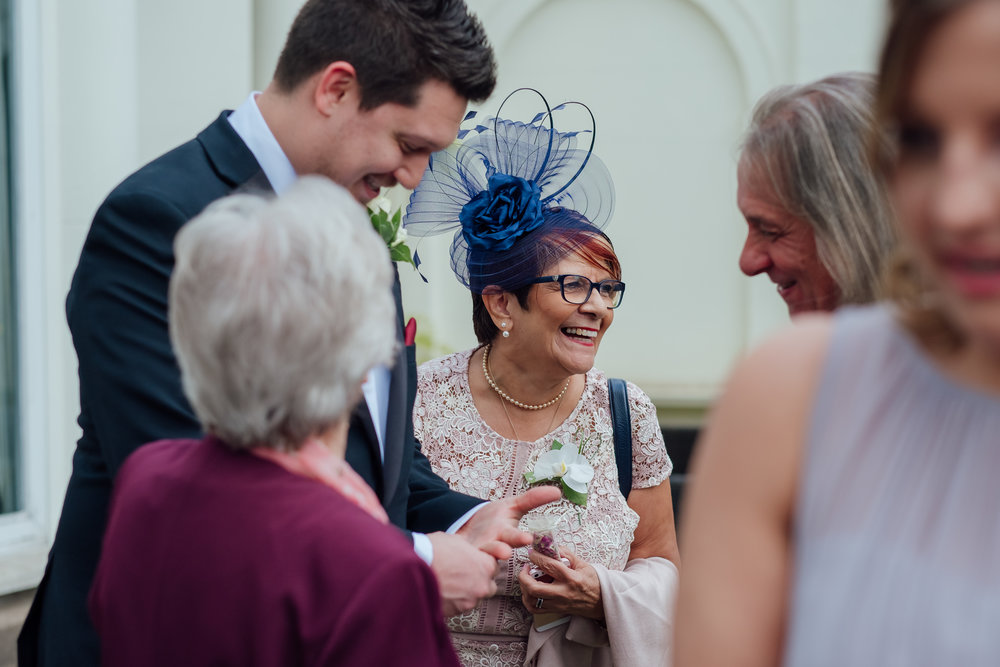 Drinks reception at Heatherden Hall Wedding Pinewood studios - Amy James photography