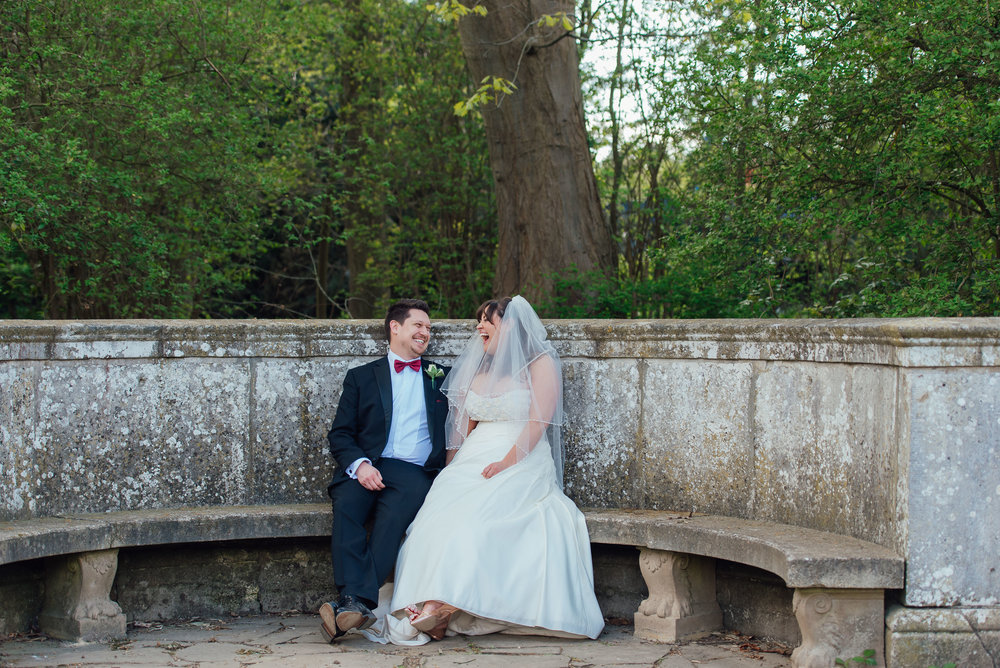 Bride and Groom at Heatherden Hall at Pinewood Studios - Amy James Photography - Wedding photographer Hampshire Surrey and Berkshire