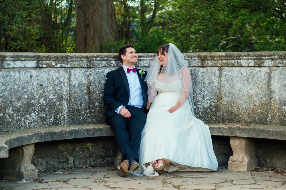 Bride and Groom at Heatherden Hall wedding at Pinewood Studios - Amy James Photography - Wedding photographer Hampshire Surrey and Berkshire