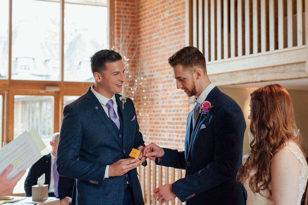 Barn Wedding Ceremony venue in Hampshire or Surrey