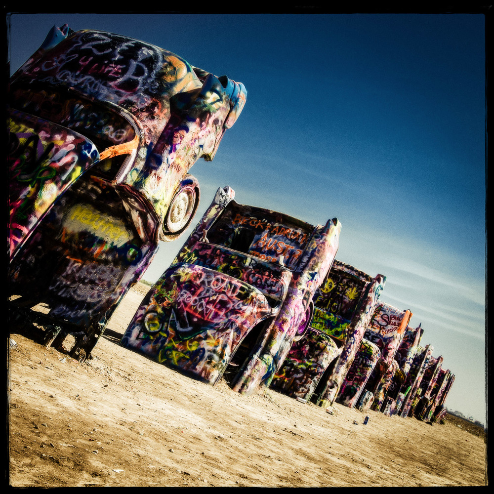 Cadillac Ranch 2013   This image is Available as a Wood Panel Print In our Store.