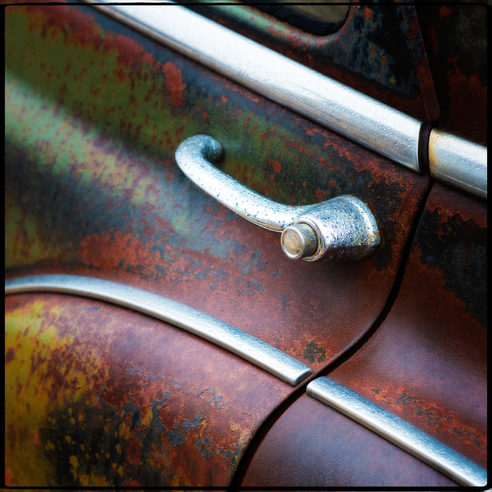 Detail of 1950 Chevy Door Handle