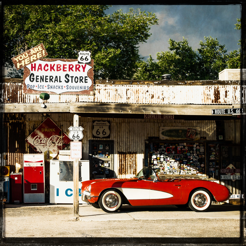 1957 Corvette at The Hackberry General Store
