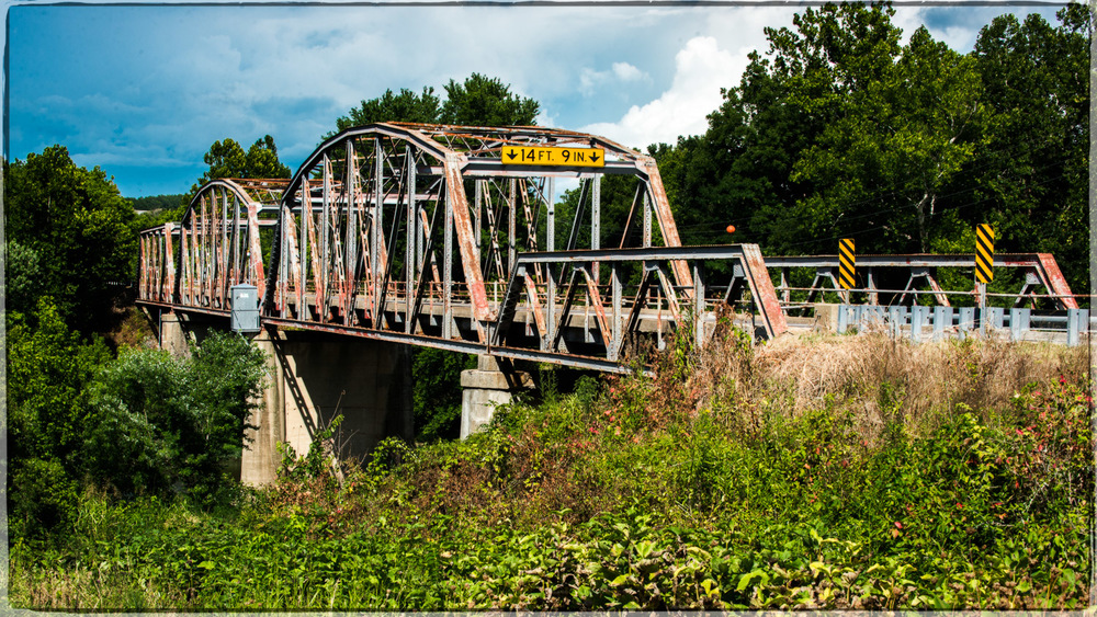 Gasconade River Bridge August 2014, prior to closing.  ©Pics On Route 66