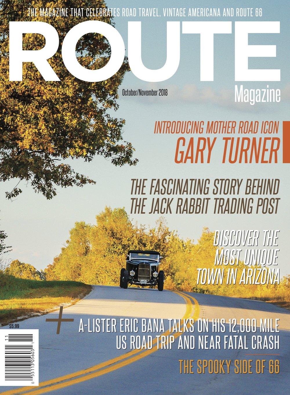 The 2018 October/ November  Route Magazine  Cover - David J. Schwartz