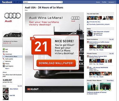 Klout Facebook