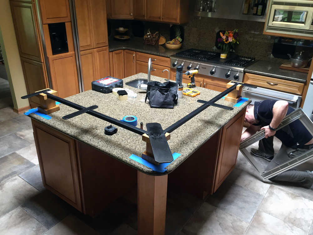 how to cut a countertop that is already installed