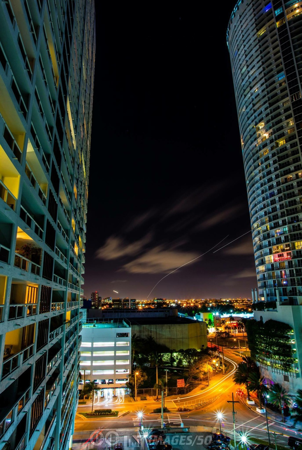 """Planes Taking Off From Miami""  A 70 second exposure taken in 50 megapixels with Canon 5Ds."