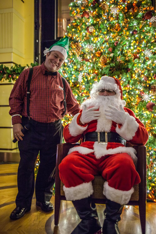 Santa and Wee Jimmy!