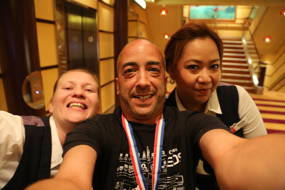Maria, Celeste and me. A 35mm lens on a full-frame camera is GREAT for selfies!