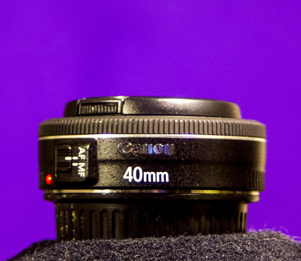 Canon EF 40mm f2.8 STM 'Pancake'    Do not be fooled by the small size. It is a nice sharp lens!