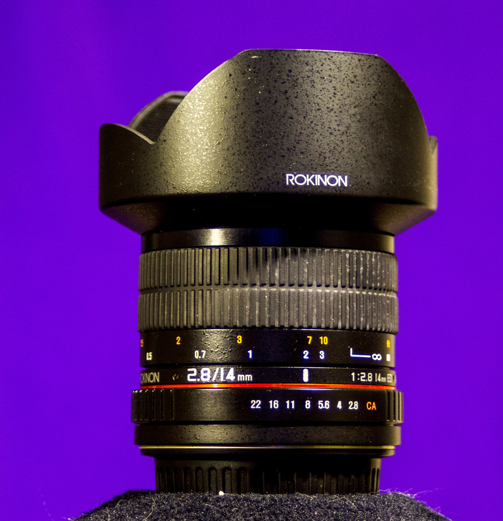 Rokinon 14mm f2.8 Great for really wide-angle shots!