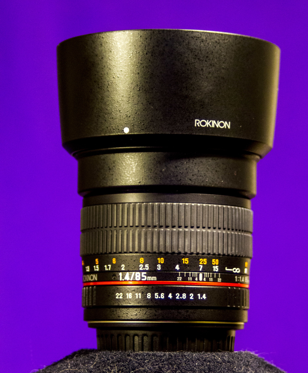 Rokinon 85mm f1.4 Great for portraits.
