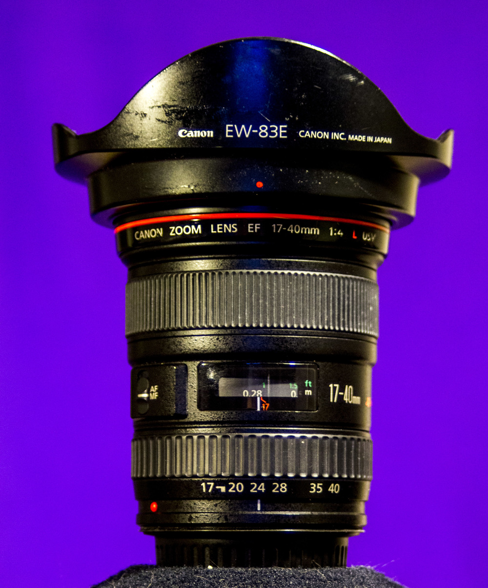 Canon EF 17-40mm f4 L USM  Used a lot for the long-exposures and semi-wide and wide shots.