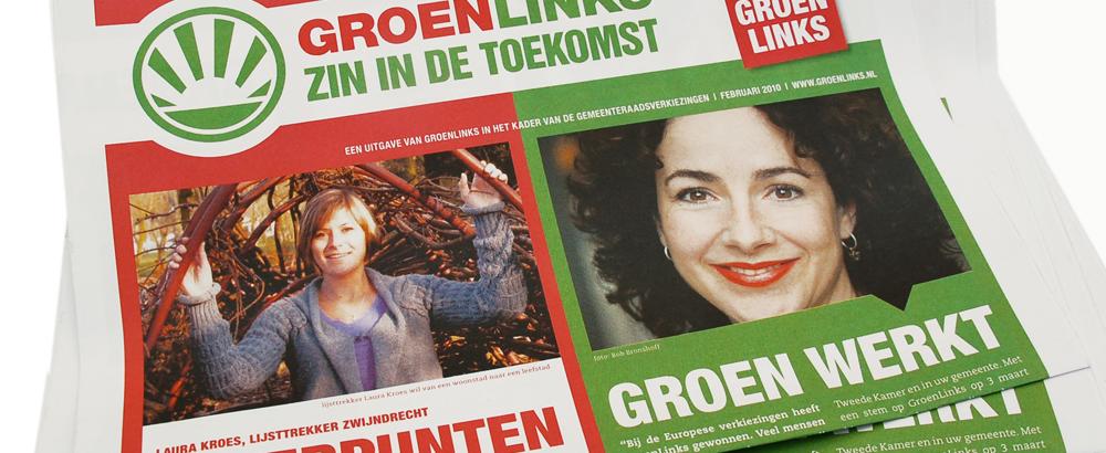 Landelijke verkiezingskranten GroenLinks