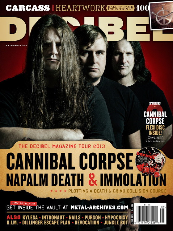 Decibel June 2013 with Cannibal Corpse Napalm Death and Immolation