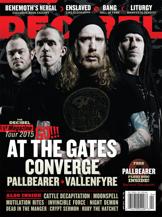 Decibel April 2015 with At the Gates Converge Pallbearer and Vallenfyre
