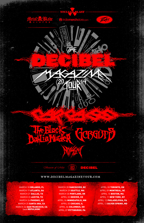 Decibel Magazine Tour 2014