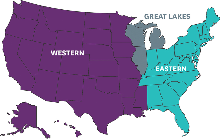 Connect With Youth For Understanding USA - Map of us with great lakes