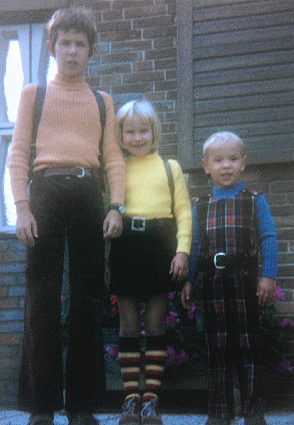 Host Siblings: Arne, Ariane and Ole Eggert, 1972.