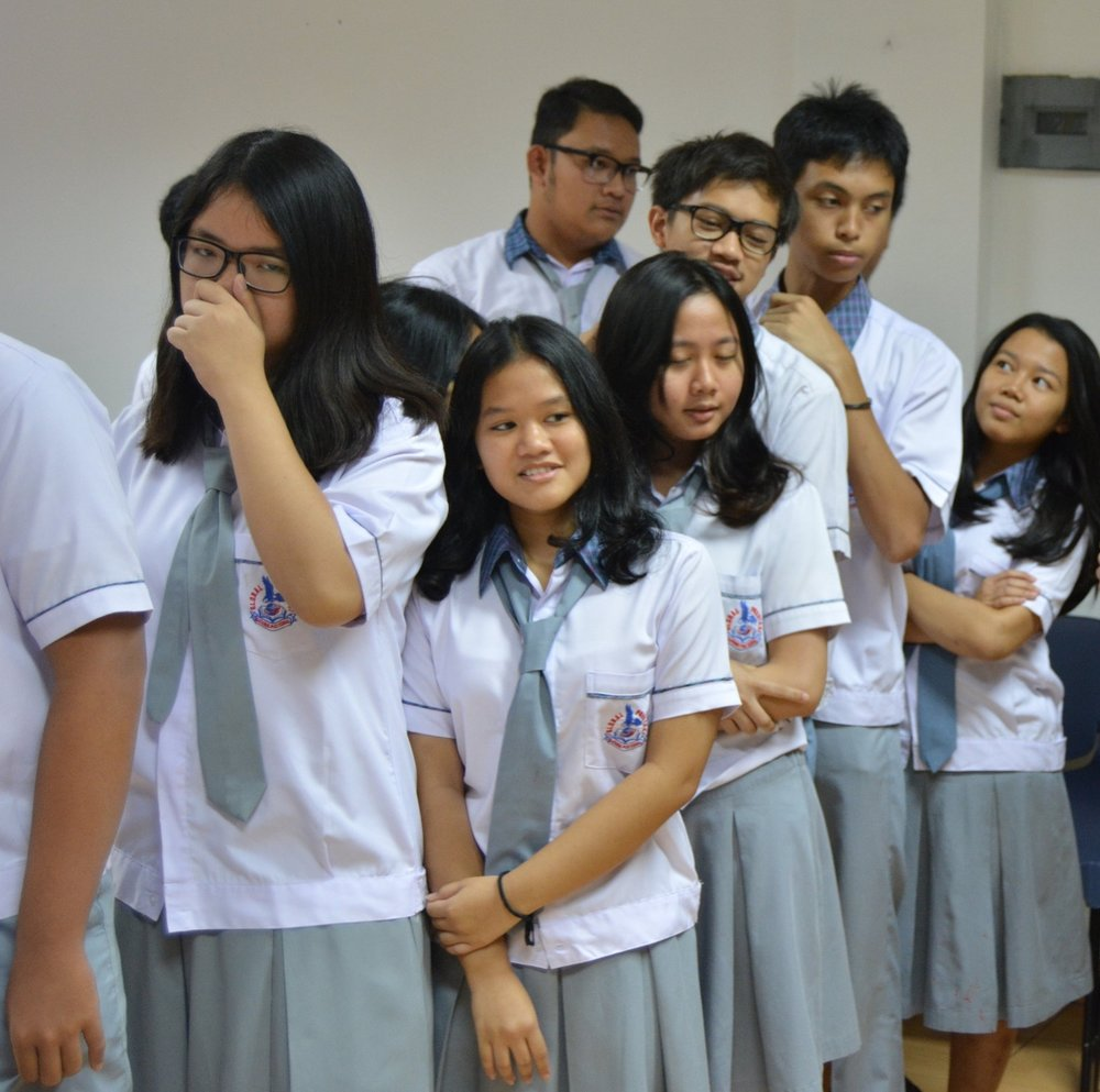Students at Global Prestasi, a participating school in Indonesia.