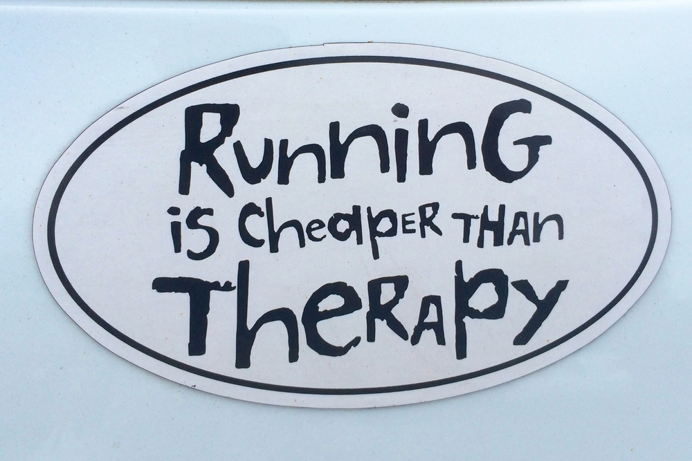 A fitting bumper sticker that I saw on a parked car as I was wrapping up this essay,along with a pair of 13.1 and 26.2 stickers. I couldn't agree more! Who knows what's next for me, but I know that as far as I've come and as hard as I've been willing to keep pushing myself, that anything is possible!