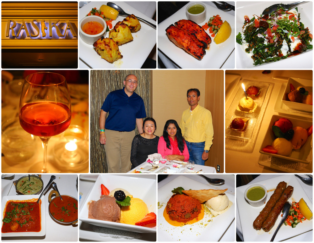 Rasika in Washington, D.C. with Raghu and Anitha