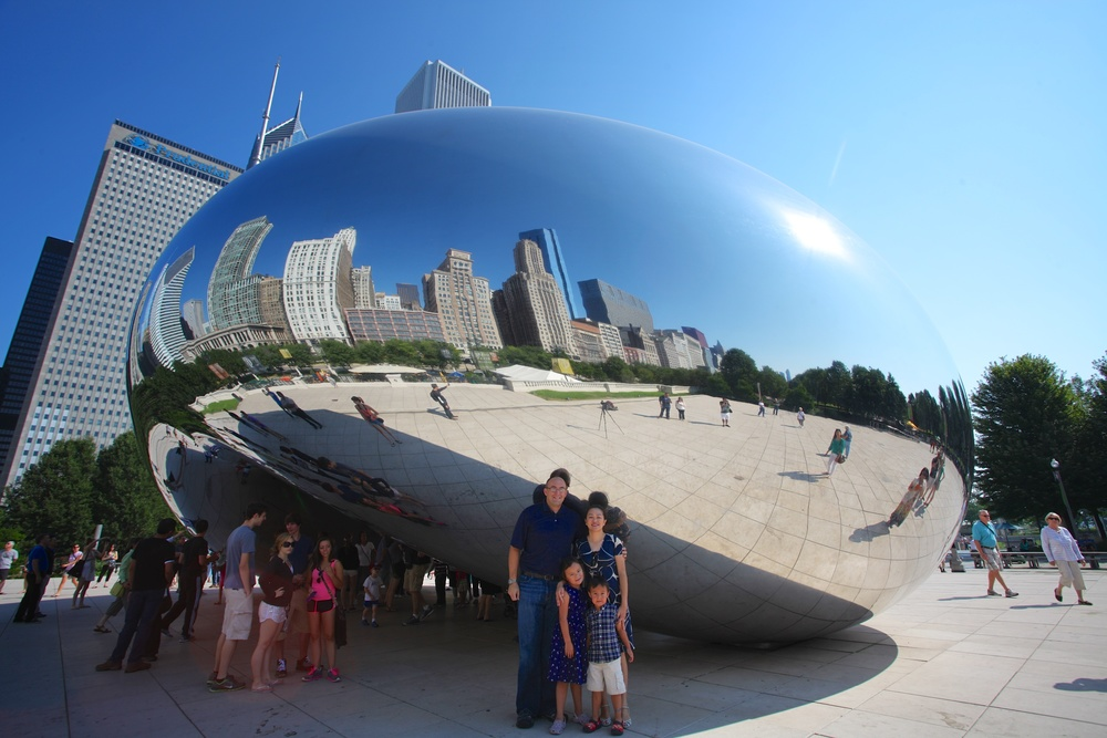 "Our Summer 2013 Midwestern Road Trip, ""The Bean"" in Chicago"