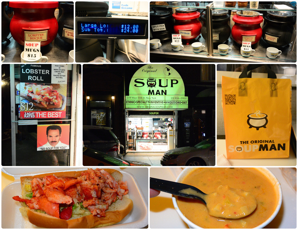 The Soup Nazi in New York. Ho-lee-crap! Best soup EVA!!~!!!!