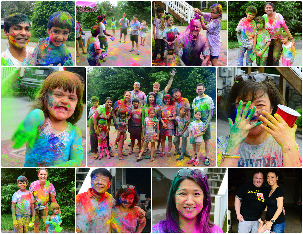My annual  summer kickoff color party , with some dear and beloved friends. Always such a great time, and so much fun! This party had nothing to do with cancer or NCSD, and everything to do with simply enjoying life. The best way to survive cancer, is to LIVE!