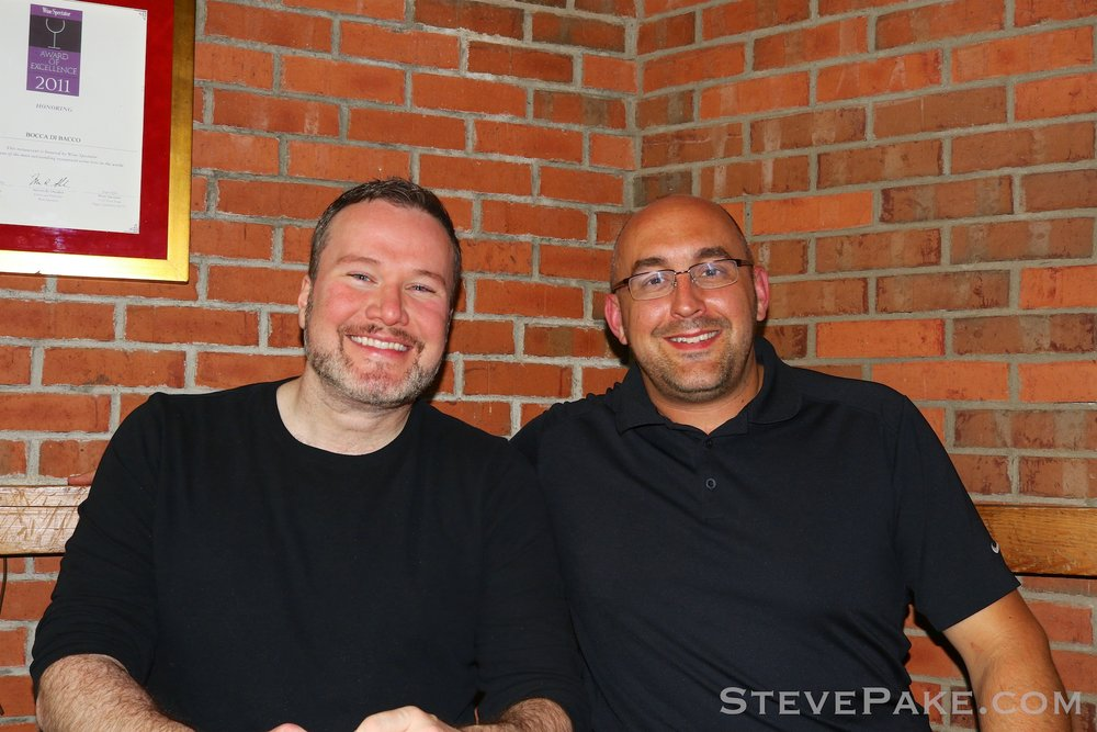 Dinner with my testicular cancer survivor virtual twin, Jason.